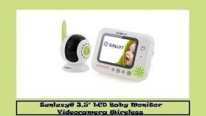 Sunluxy® 3,5″ LCD Baby Monitor Videocamera Wireless