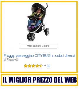 il passeggino leggero froggy citybug
