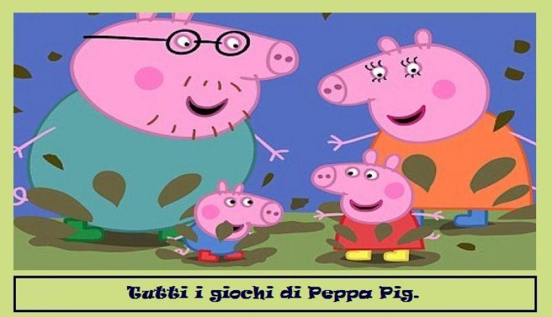 Tutti i giochi di Peppa Pig.